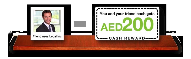 AED 200 Cash Reward