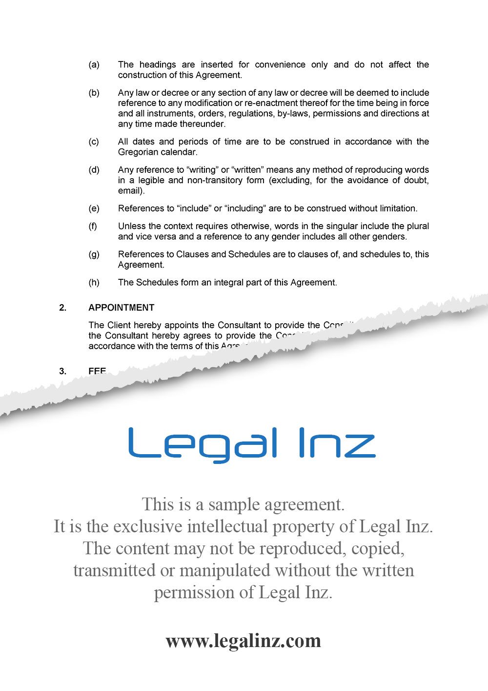 Consultancy Agreement Sample 3