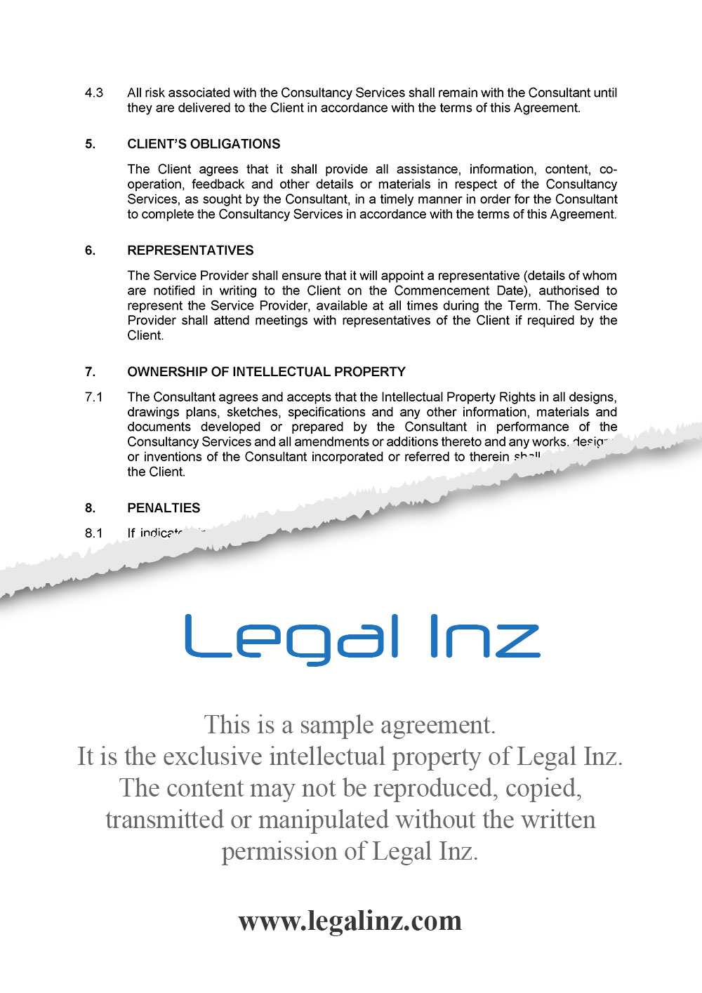 Consultancy Agreement Sample 4