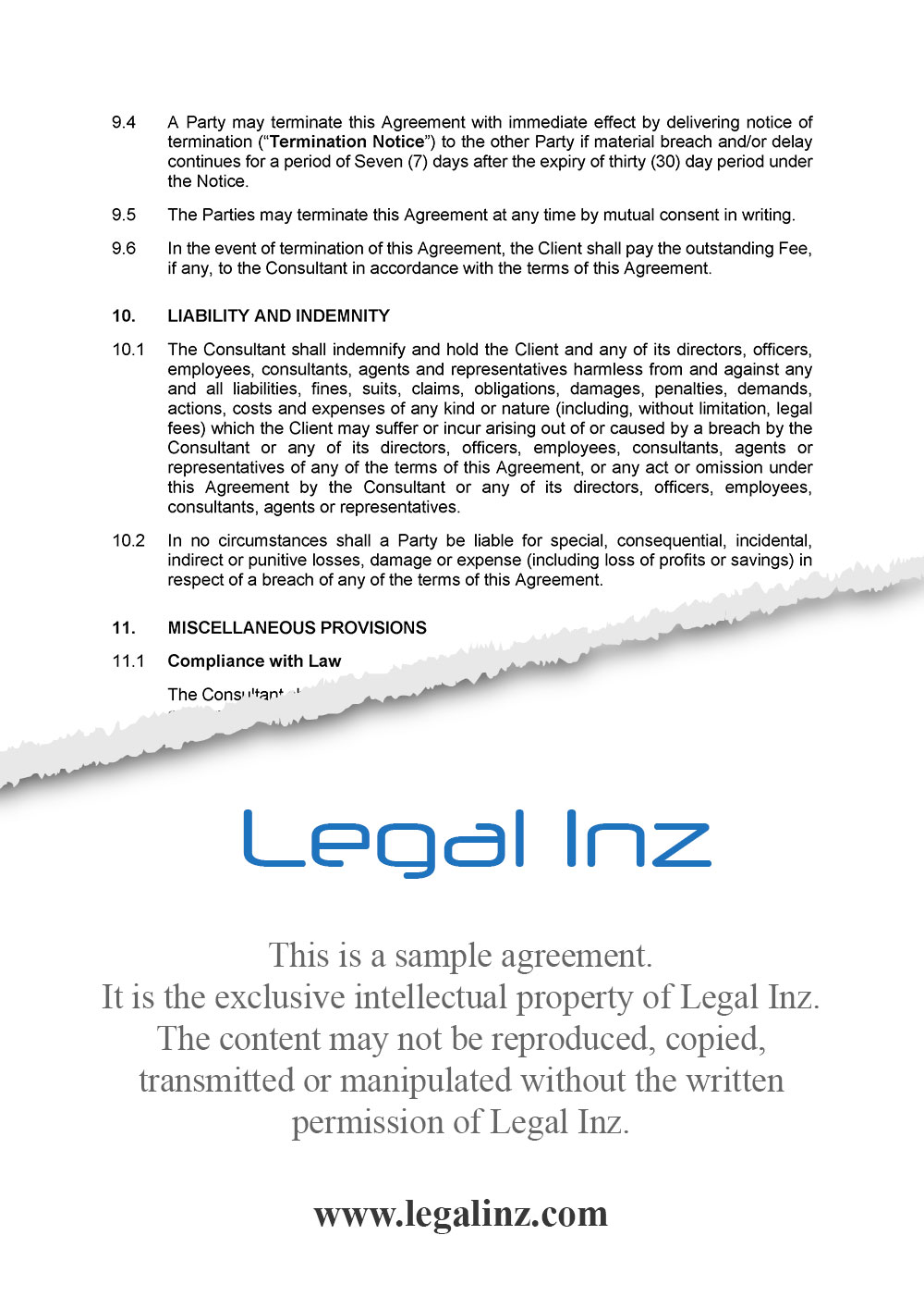Consultancy Agreement Sample 5