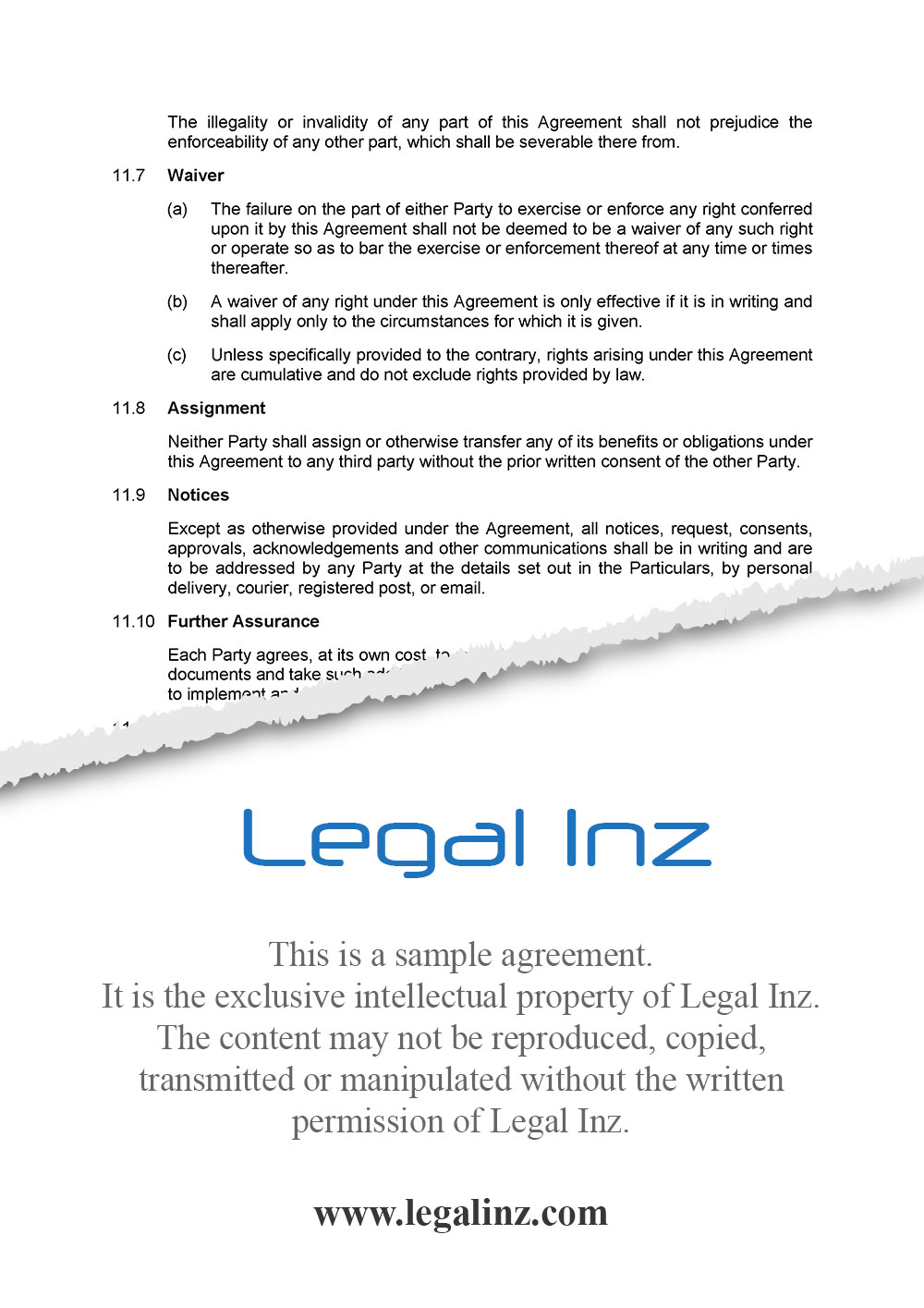 Consultancy Agreement Sample 6