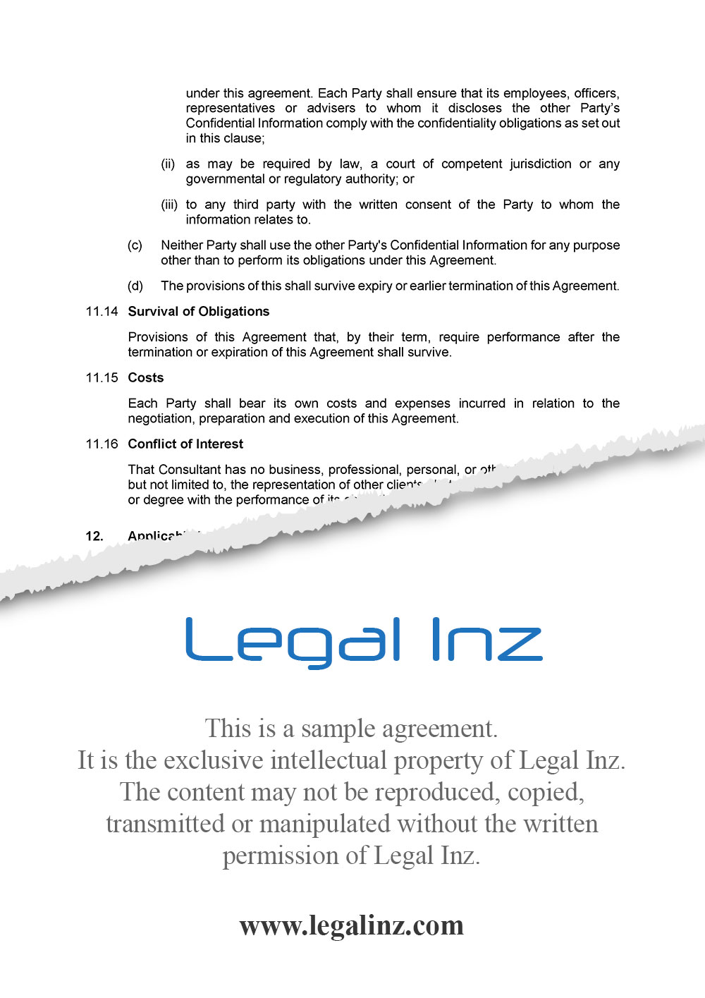Consultancy Agreement Sample 7