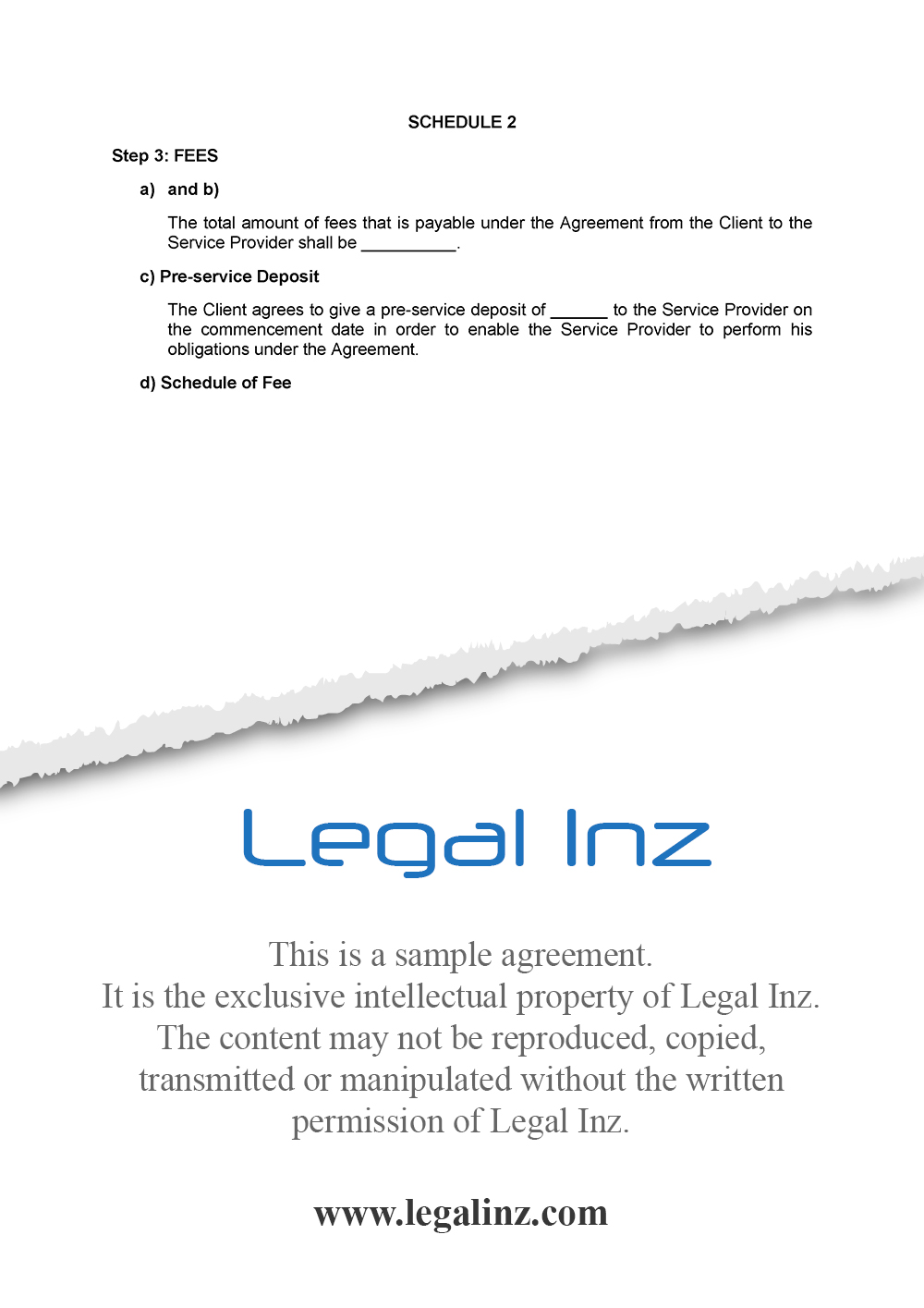 Services Agreement Sample 11