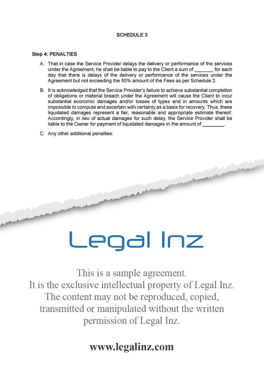 Services Agreement Sample 12