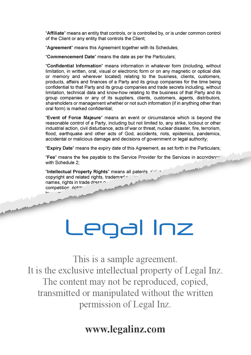 Services Agreement Sample 2
