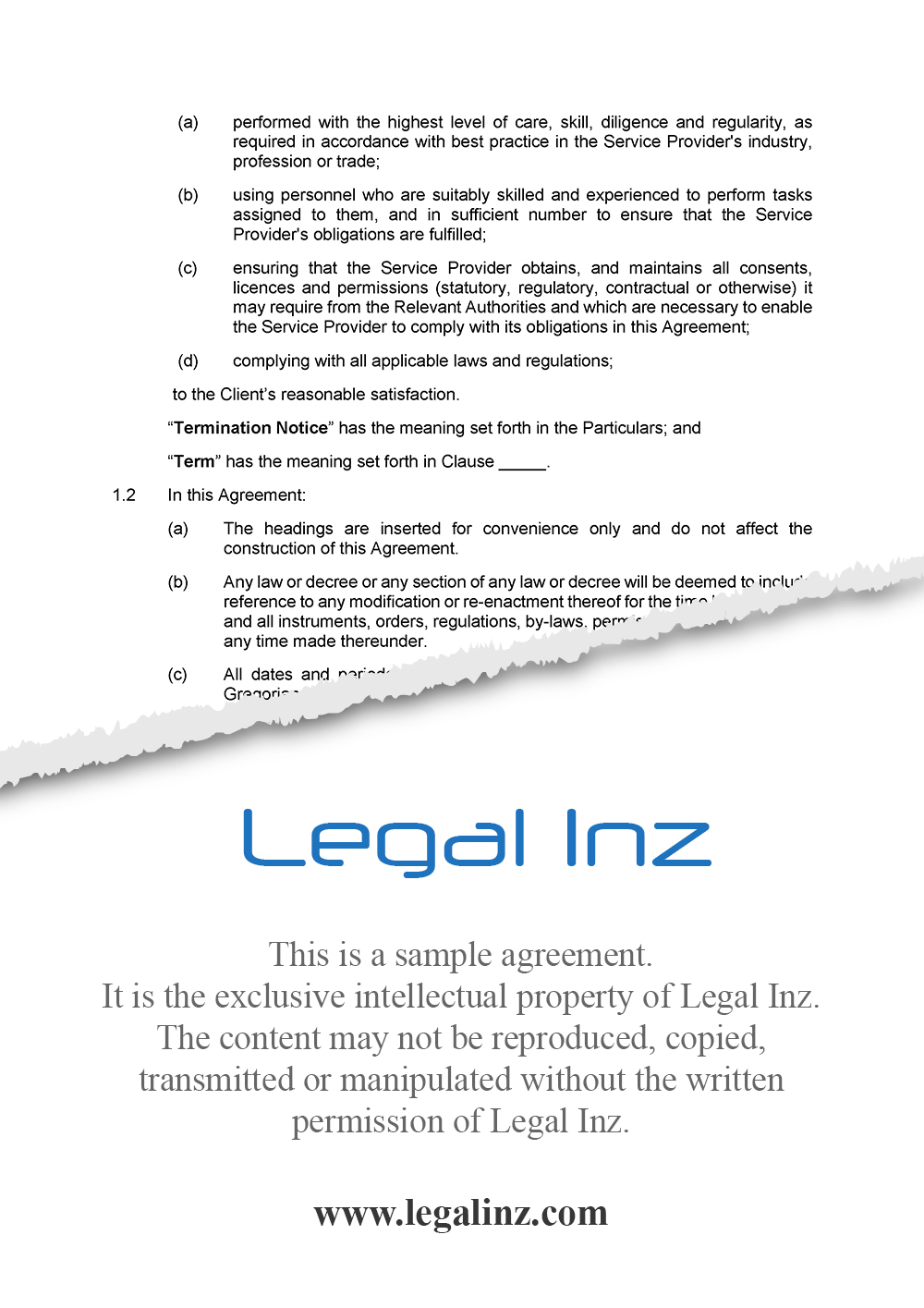 Services Agreement Sample 3