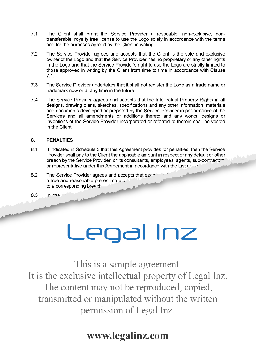 Services Agreement Sample 5