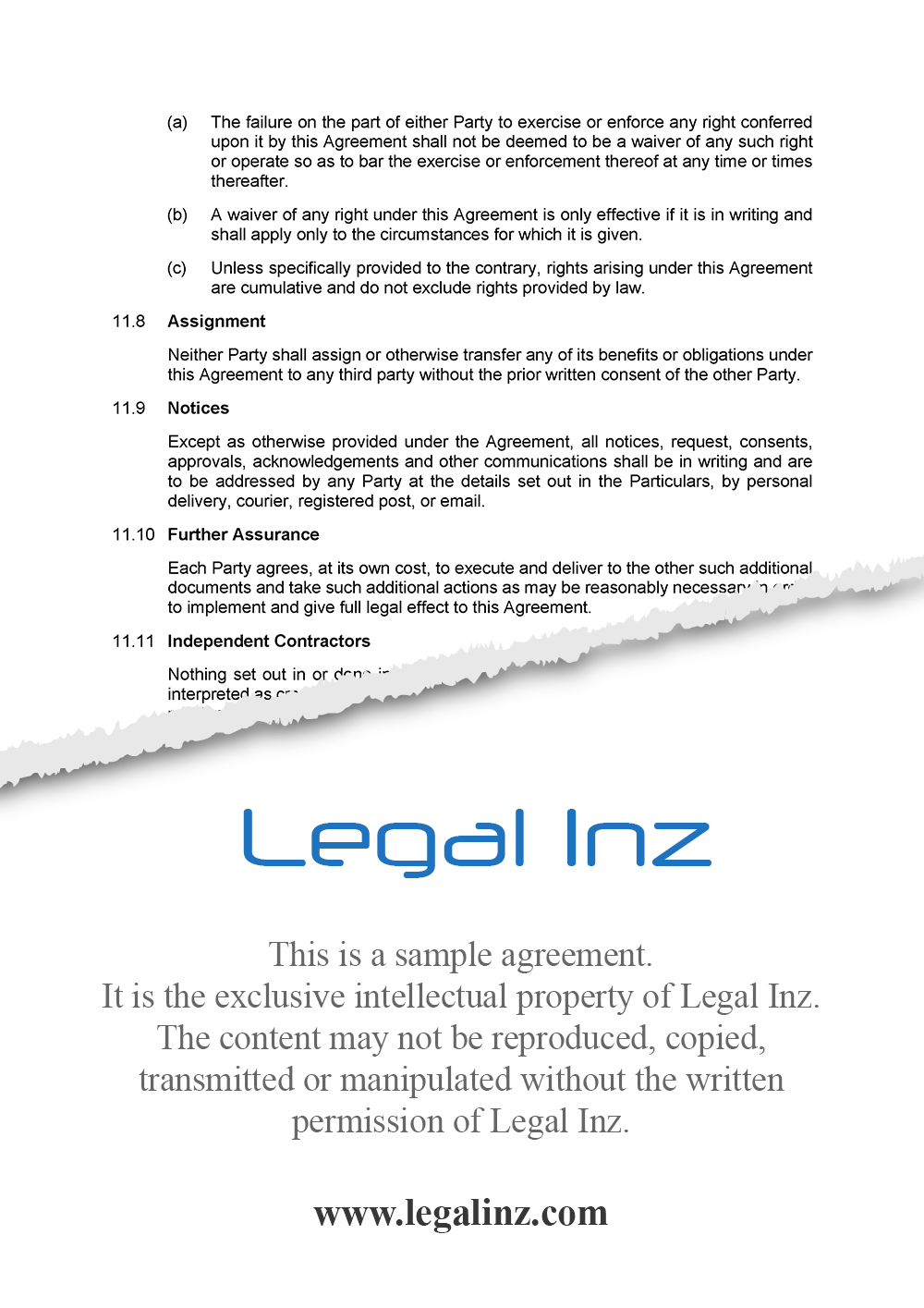 Services Agreement Sample 7