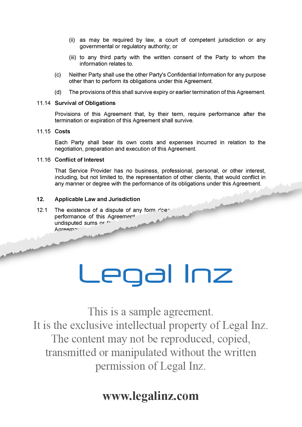 Services Agreement Sample 8