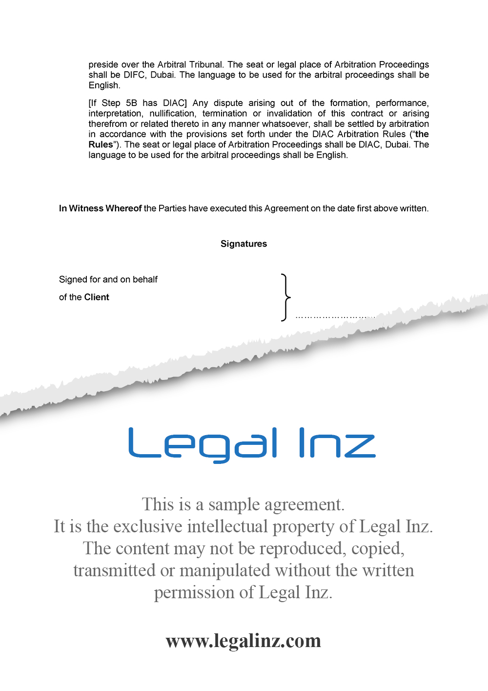 Services Agreement Sample 9